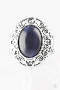 Moonlit Marigold - Dark Blue Moonstone - Stretch Ring