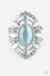 Over The MOONFLOWER - Blue - Stretch Ring