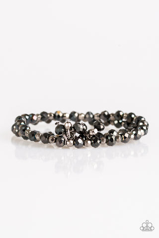 Sink Or Shimmer - Black - Stretch Bracelet