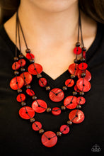 South Beach Summer - Red - Necklace