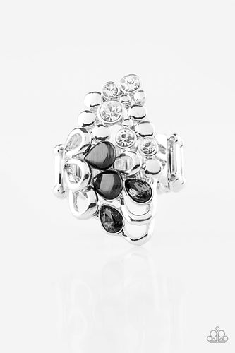 Sparkle Splash - Black Moonstone - Stretch Ring