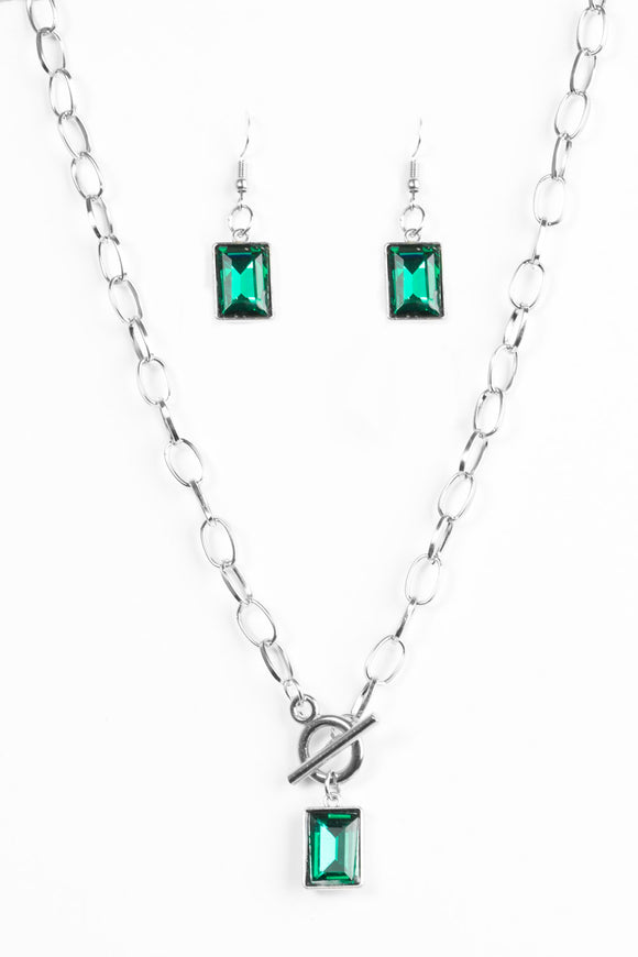 Wear It Like You Mean It - Green - Short Necklace