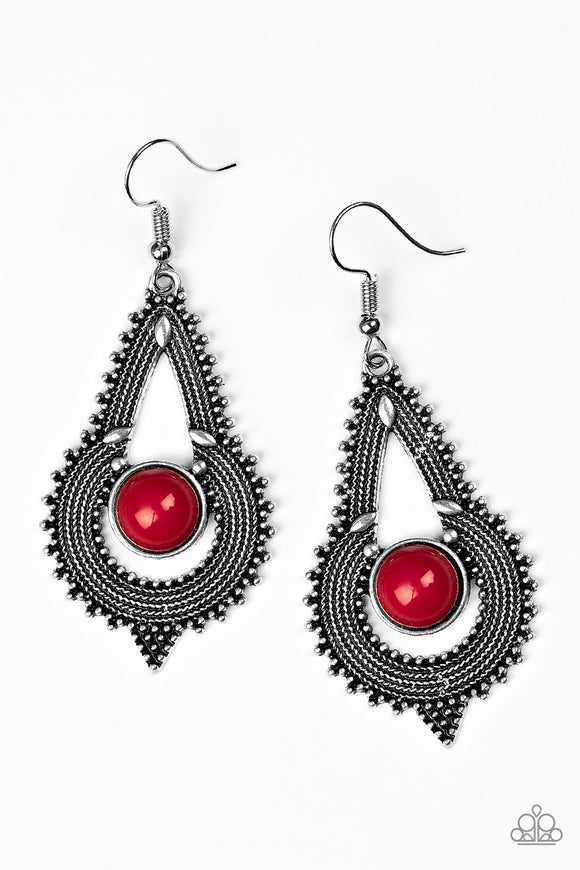 Zoomin Zumba - Red - Earrings