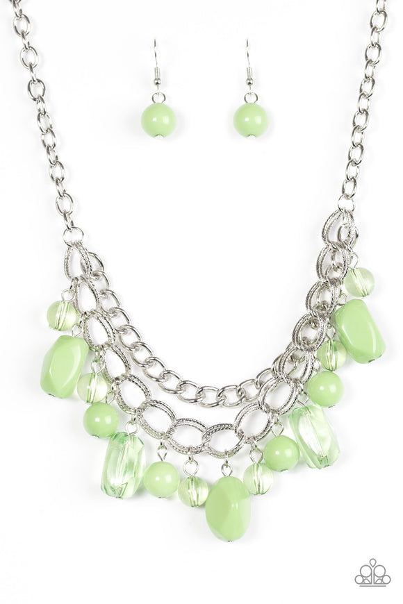 Brazilian Bay - Short Necklace - Green