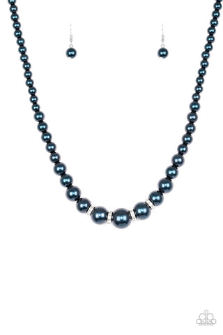 Party Pearls - Blue - Short Necklace