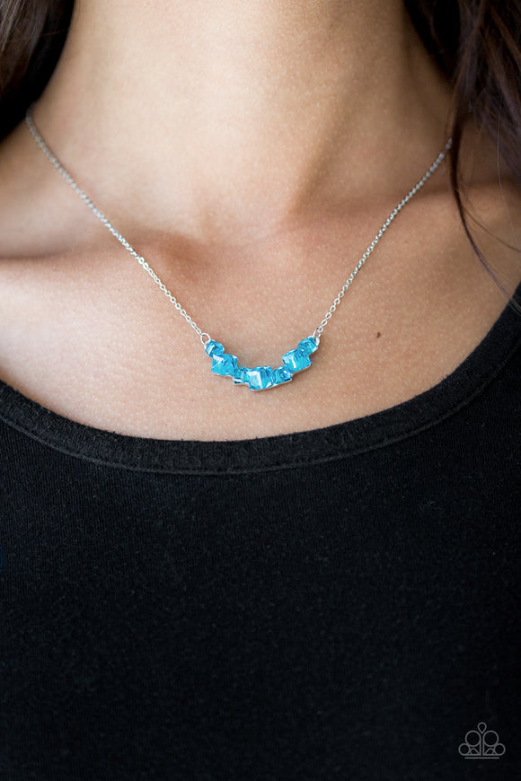 Loaded Dice - Blue - Short Necklace