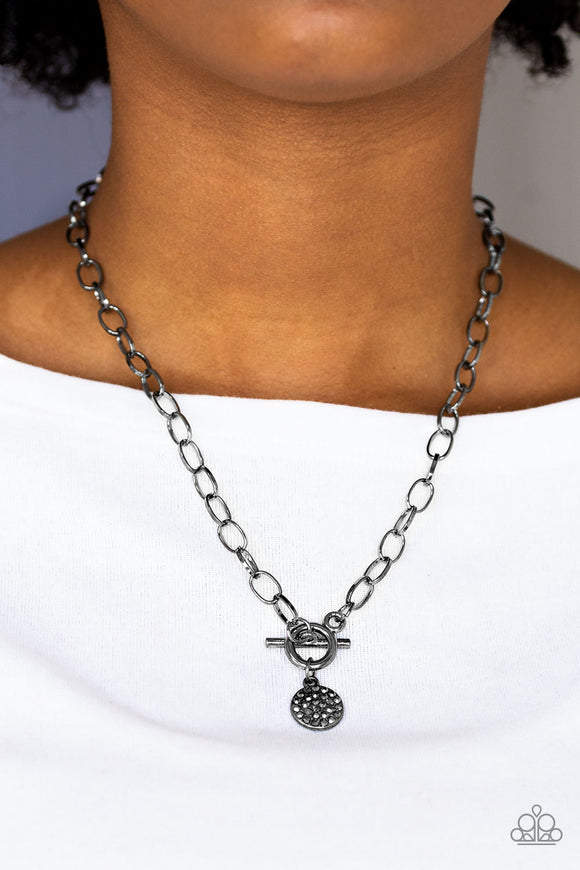 Sorority Sisters - Black/Gunmetal - Short Necklace