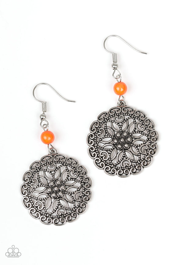Full Floral - Orange - Earrings