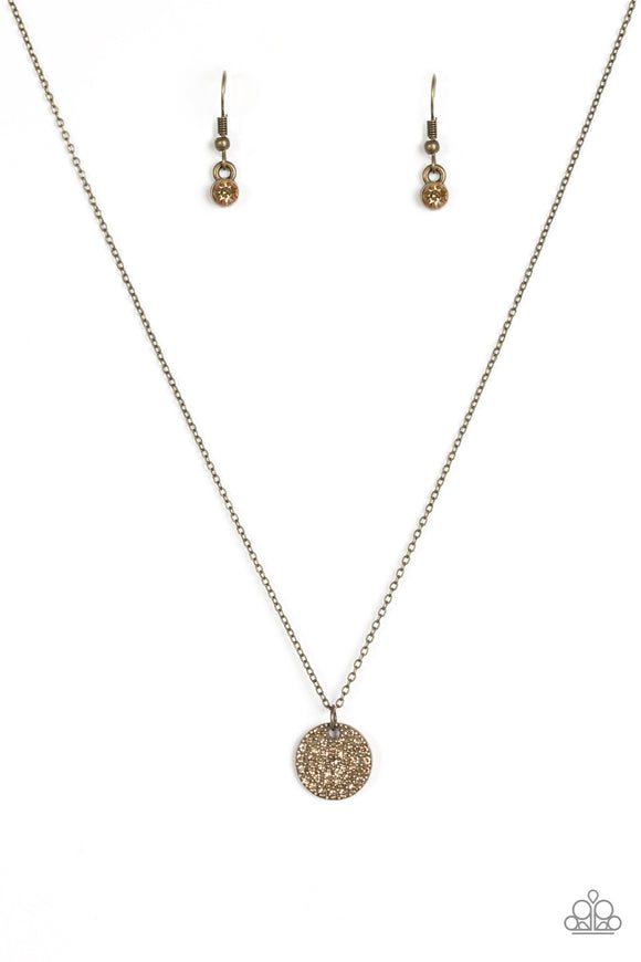 Make Today Glitter - Short Necklace - Brass