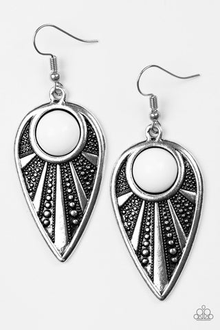 Take A WALKABOUT - White - Earrings