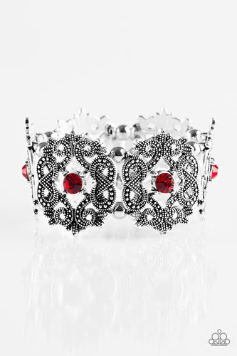 EMPRESS-ive Shimmer - Red - Stretch Bracelet