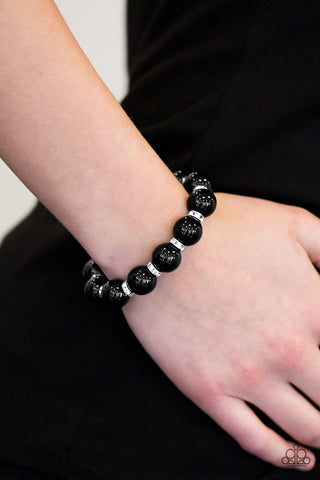 Here Comes The BRIDESMAID - Black - Stretch Bracelet