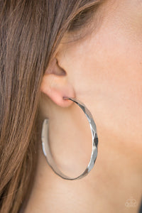 Hey, HAUTE Stuff - Silver - Hoop Earrings