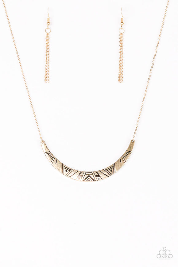 Howl At The Moon - Gold - Short Necklace