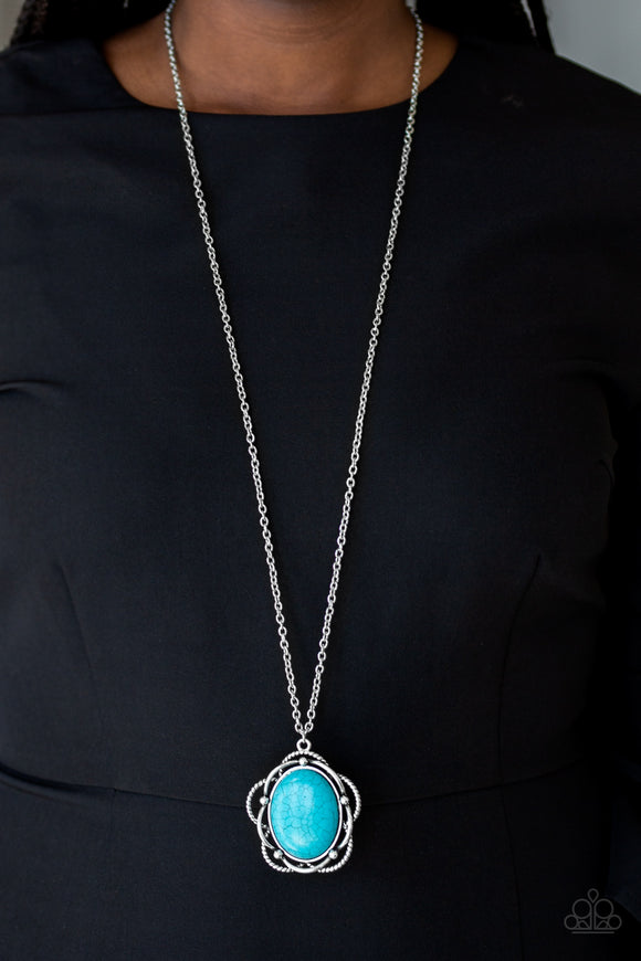 Let Your Dreams Bloom - Blue - Long Necklace