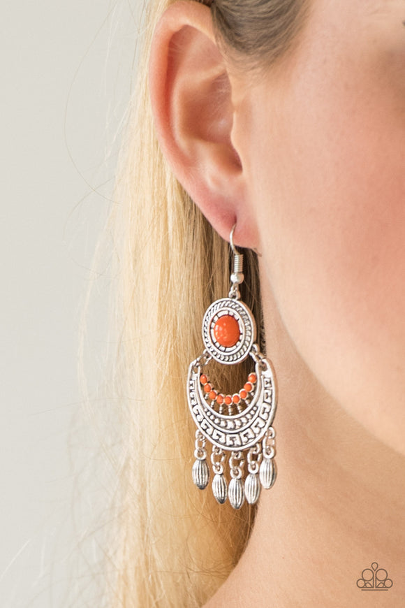 Mantra to Mantra - Orange - Earrings