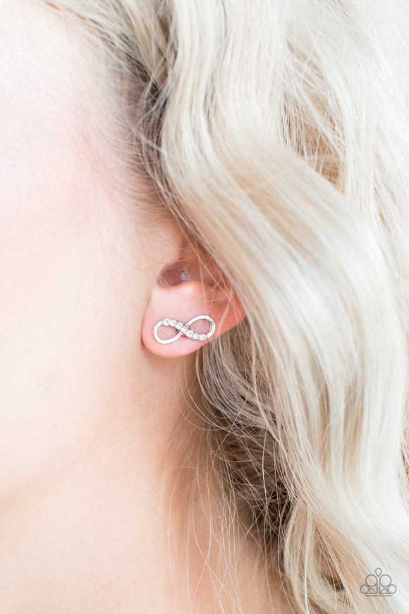 Never-Ending Elegance - Silver - Post Earrings