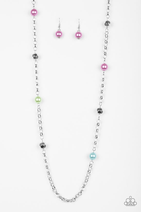 Showroom Shimmer - Long Necklace - Multicolor