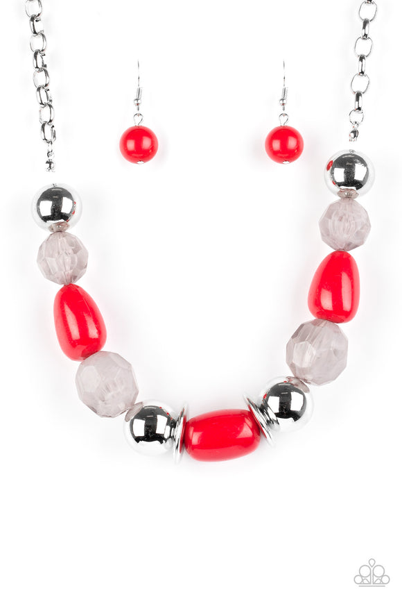 South Shore Sensation - Short Necklace - Red