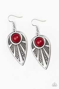 Take A WALKABOUT - Red - Earrings