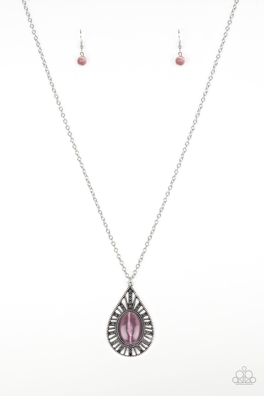 Total Tranquility - Purple - Long Necklace