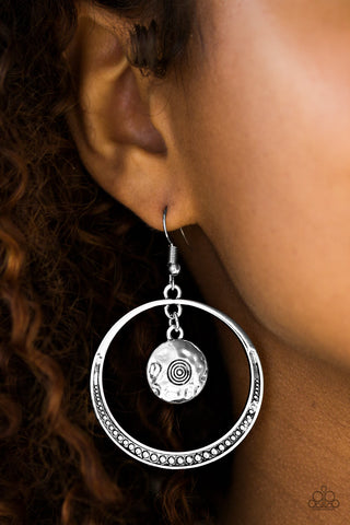Tundra Trip - Silver - Earrings