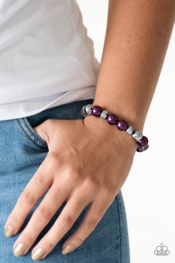 Very VIP - Purple - Stretch Bracelet