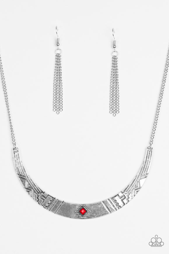 Arizona Adventure - Red - Short Necklace