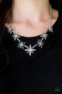 Decked Out In Daisies - Silver - Short Necklace