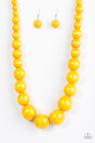 Effortlessly Everglades - Long Necklace - Yellow