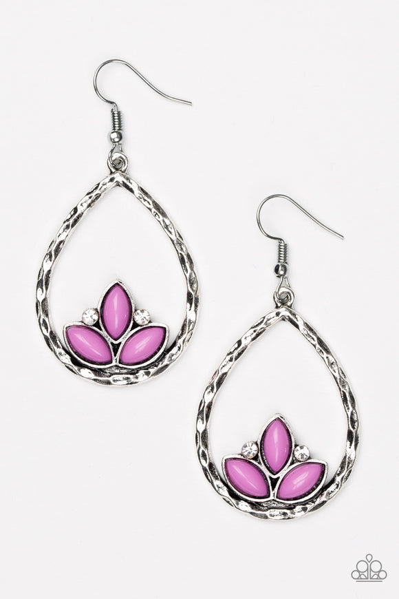 Lotus Laguna - Purple - Earrings