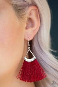 Tassel Tuesdays - Red - Earrings