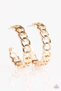 Track Record - Small - Gold Hoop Earrings
