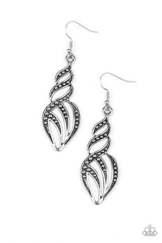 Where's The Fire? - Antique Silver - Earrings