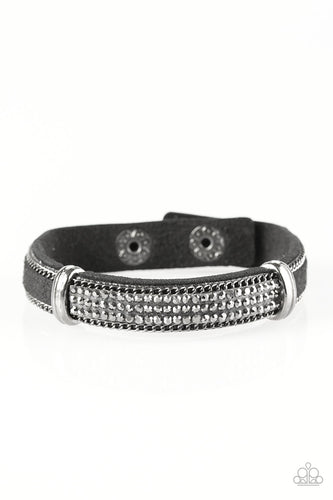 A Walk In The SPARK - Black - Leather Bracelet