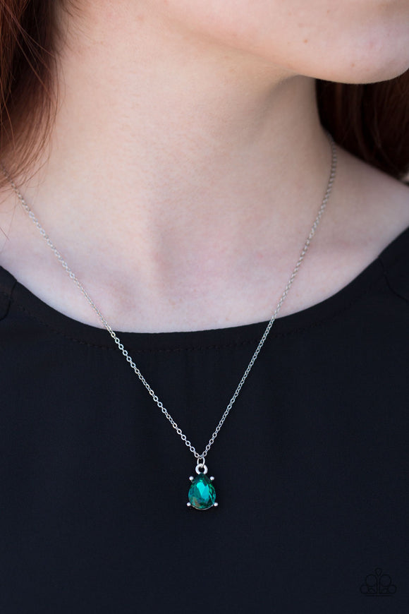 Classy Classicist - Short Necklace - Green