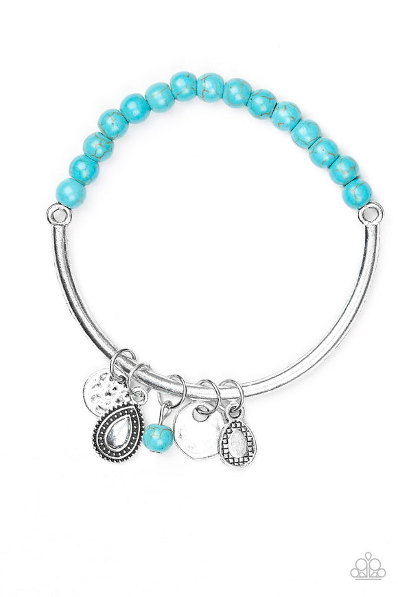 Ever Everest - Blue - Stretch Bar Bracelet