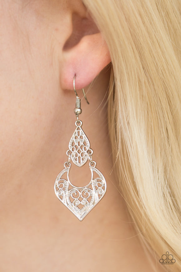 Genie Grotto - Silver - Earrings