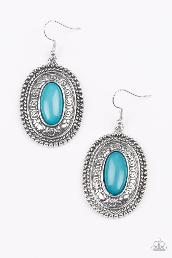 Haute Hacienda - Blue - Earrings