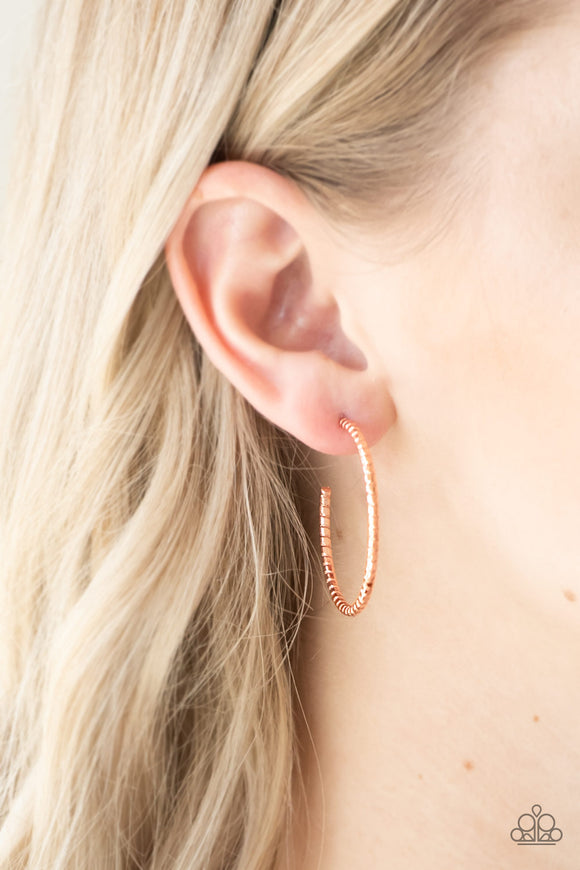 HOOP, Line, and Sinker - Copper Hoop Earrings