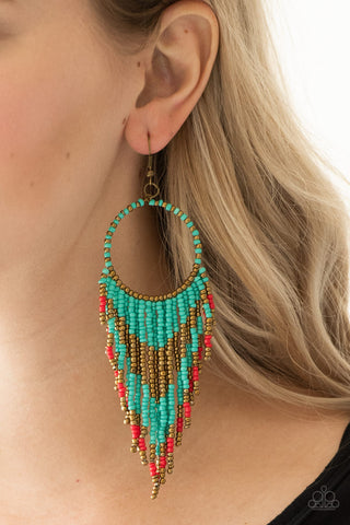 Live Off The BADLANDS - Seedbead - Earrings - Multicolor
