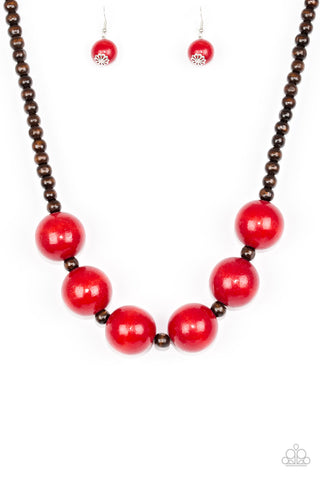Oh My Miami - Red - Wood Beads