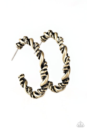 Plainly Panama - Brass - Small Hoops