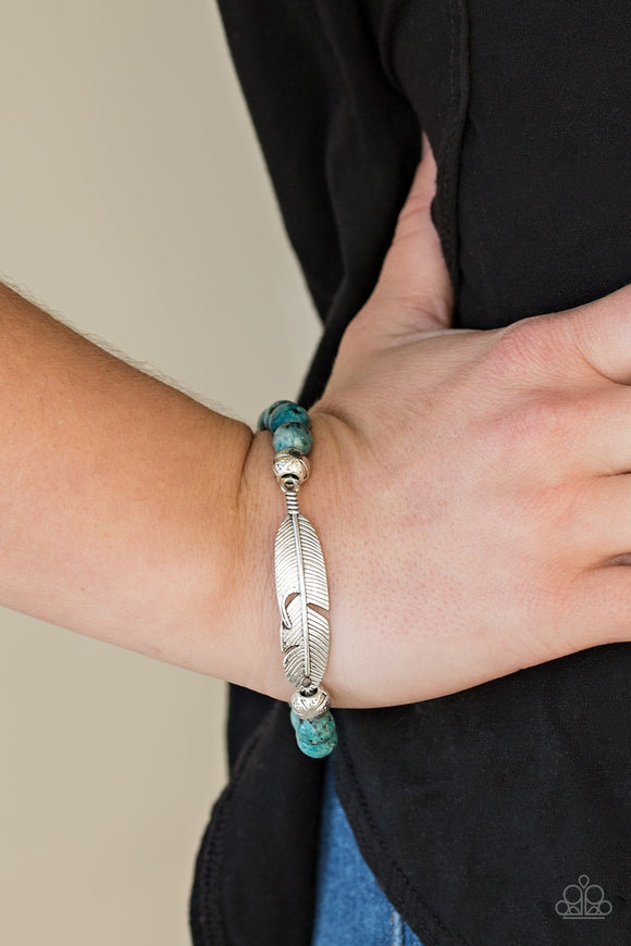 Soar High - Speckled Blue - Stretch Bracelet