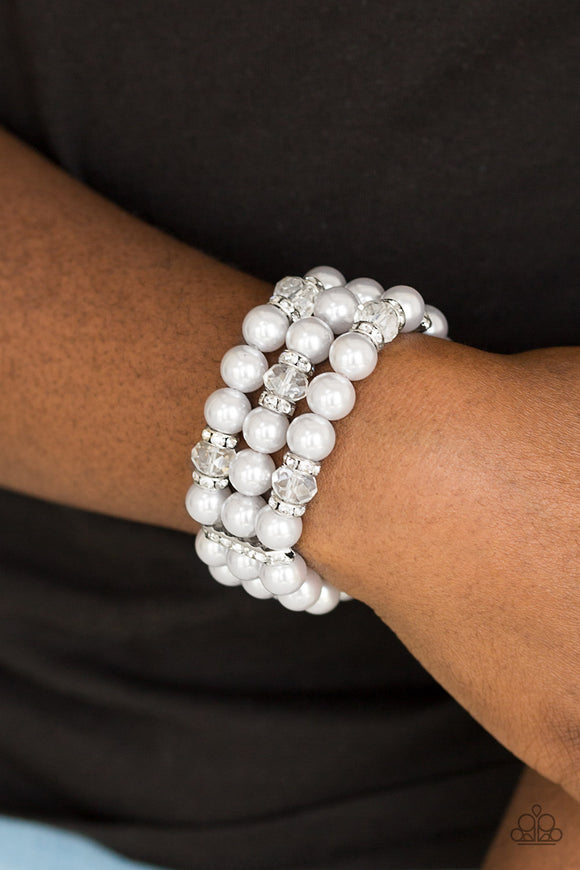 Undeniably Dapper - Silver - Stretch Bracelet