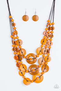 Bali Boardwalk - Orange - Necklace