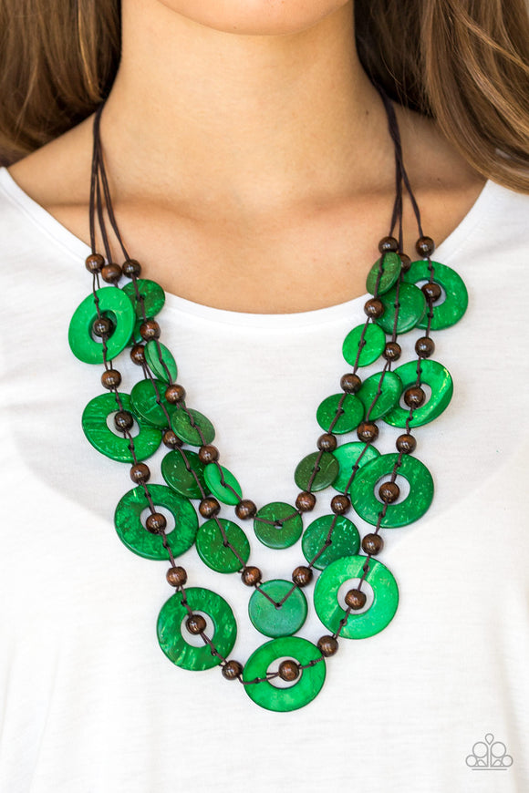 Catalina Coastin - Green - Coconut Wood Beads