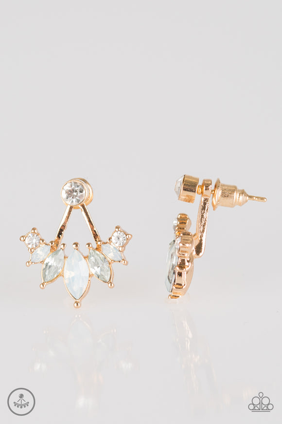 Chicest Of Them All - Gold Post Earrings