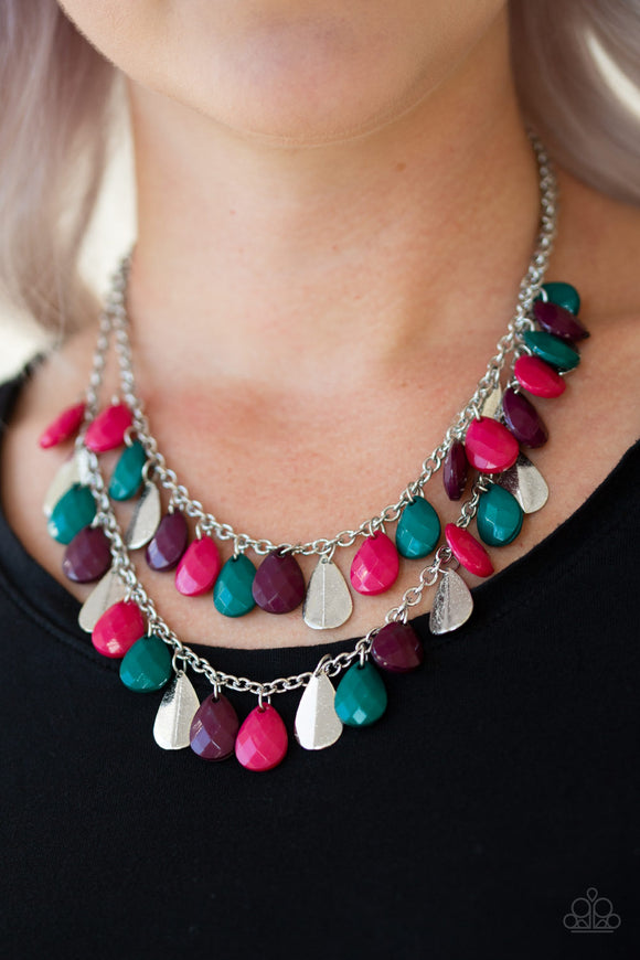 Life Of The FIESTA - Multi - Short Necklace