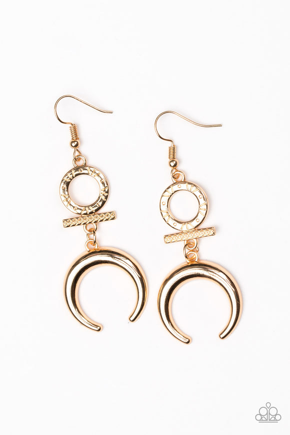 Majestically Moon Child - Gold - Earrings